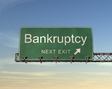 Bankruptcy Road Sign from Foreclosure Data Online